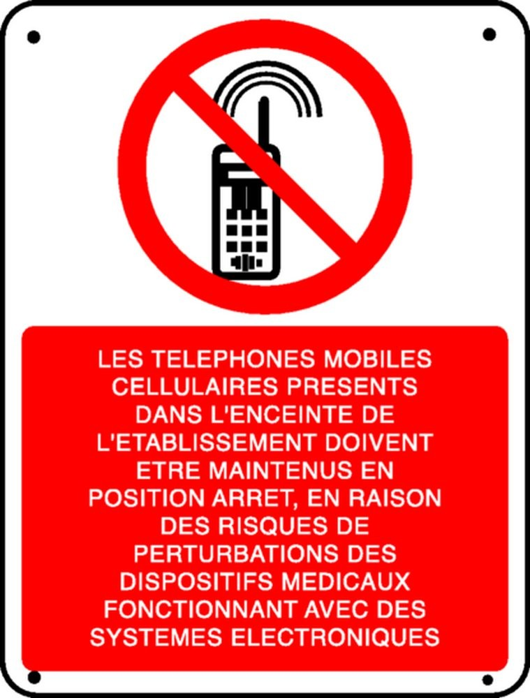Panneau Les téléphones mobiles...