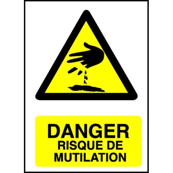 Panneau Danger Risque De Mutilation Stocksignes