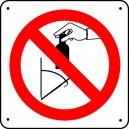 Panneau Ne pas jeter de verre dans le vide ordure Picto