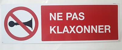Panneau Ne pas Klaxonner