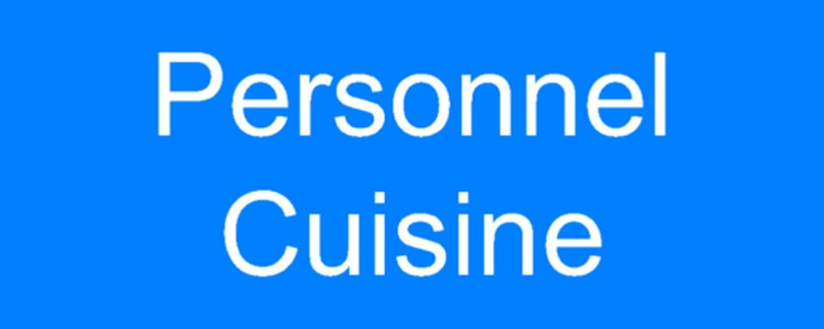 Panneau Personnel Cuisine