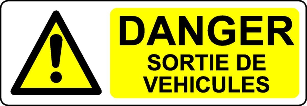 Panneau Danger Sortie de véhicules