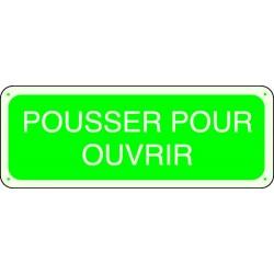 Panneau Pousser pour ouvrir Photoluminescent