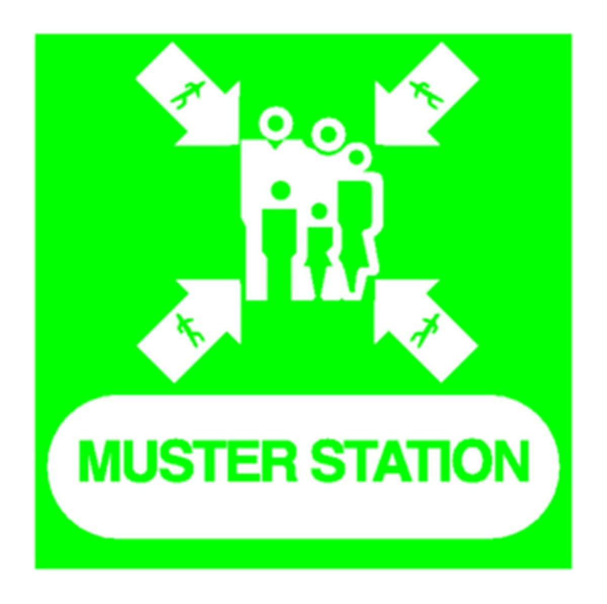 Panneau Muster station