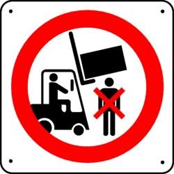 Ne pas passer sous le chariot Picto