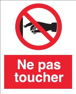 Pictogramme Ne Pas Toucher Etiquettes