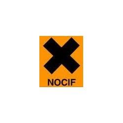 Etiquette Nocif Vinyle adhésif