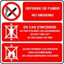 Défense de fumer/No smoking /Ascenseur