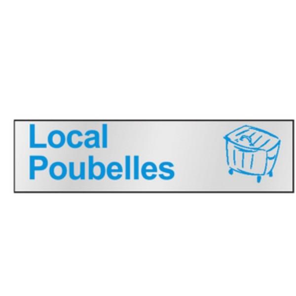 plaque local poubelles stocksignes. Black Bedroom Furniture Sets. Home Design Ideas