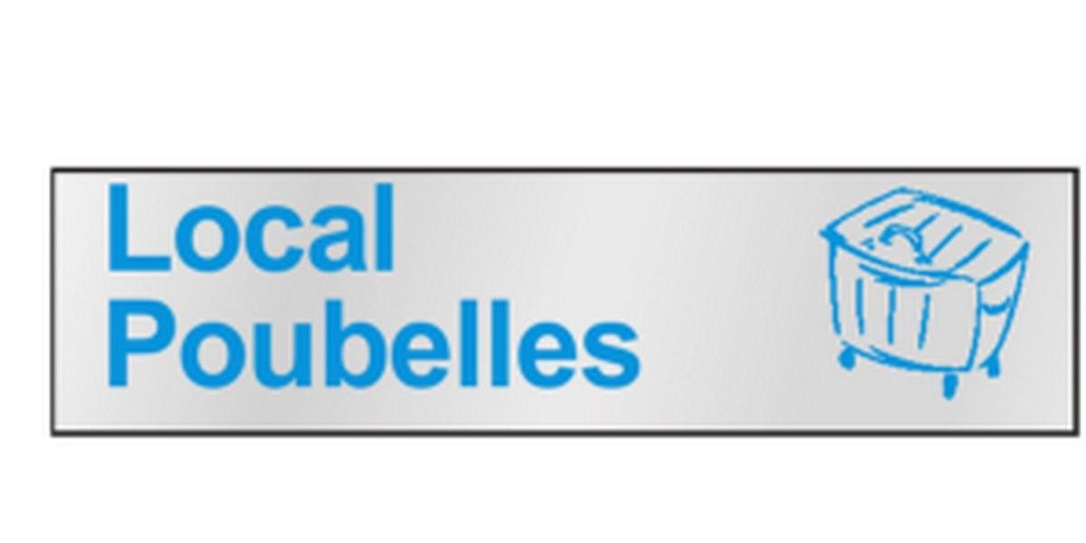 Plaque Local Poubelles