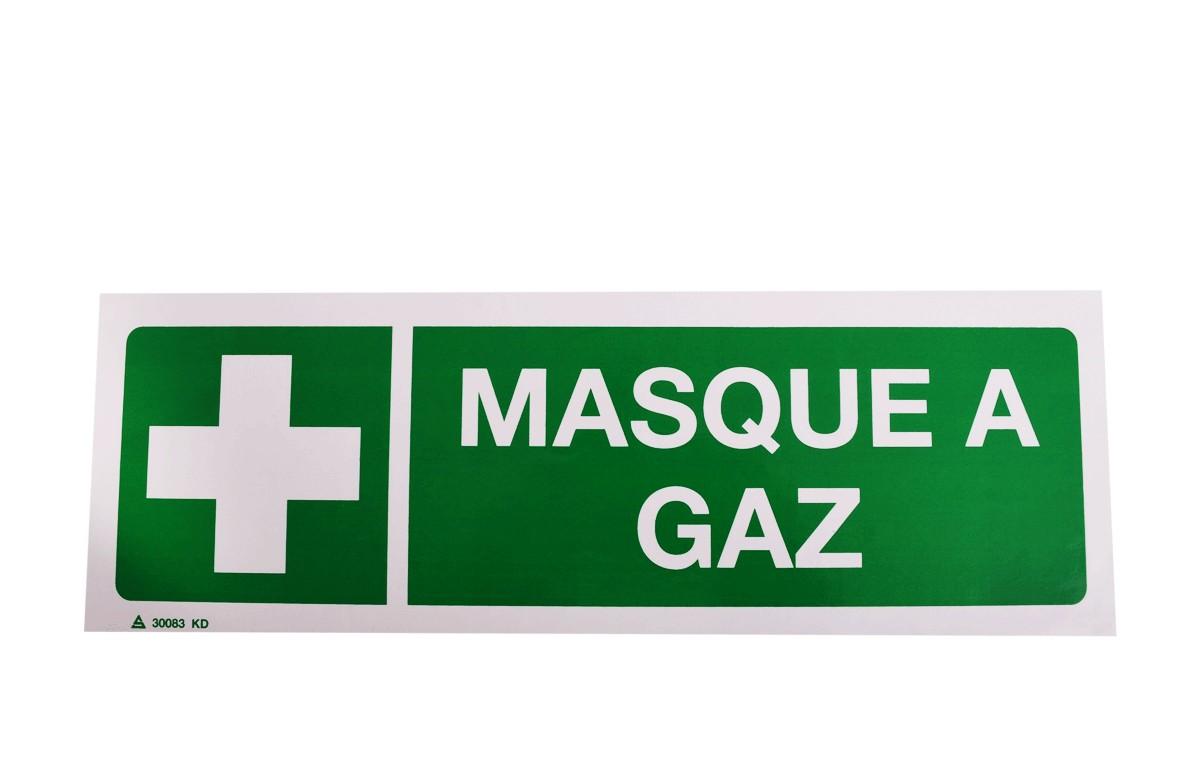 Panneau Masque à Gaz