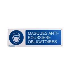 Panneau Masques Anti-Poussière Obligatoires