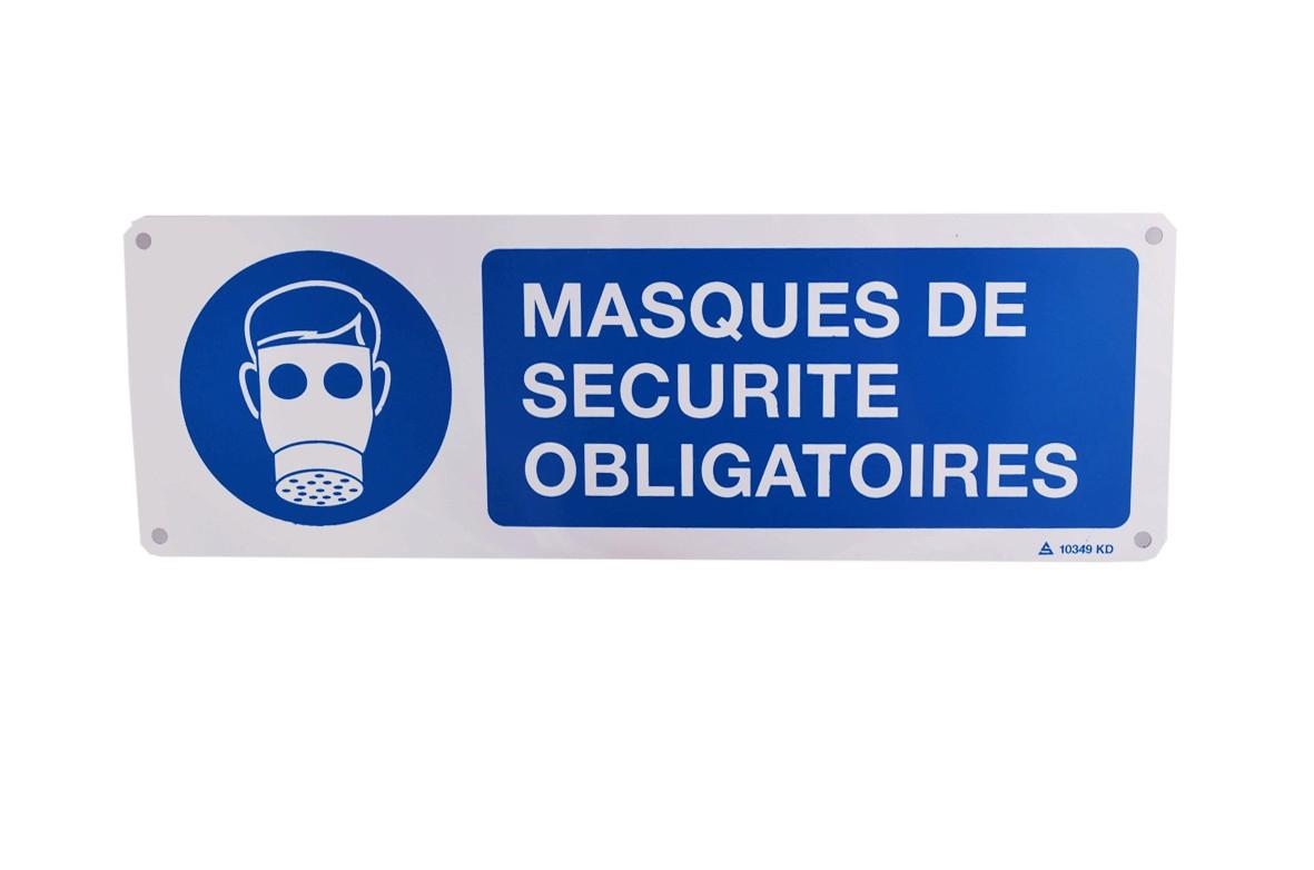 Panneau Masques de Sécurité Obligatoires