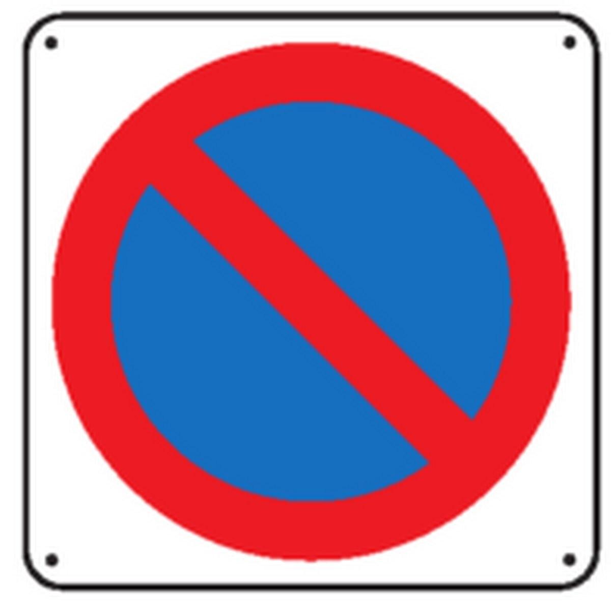 Panneau Défense de stationner Picto Renforcé pour poteau