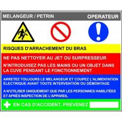 Fiche de poste Mélangeur Pétrin