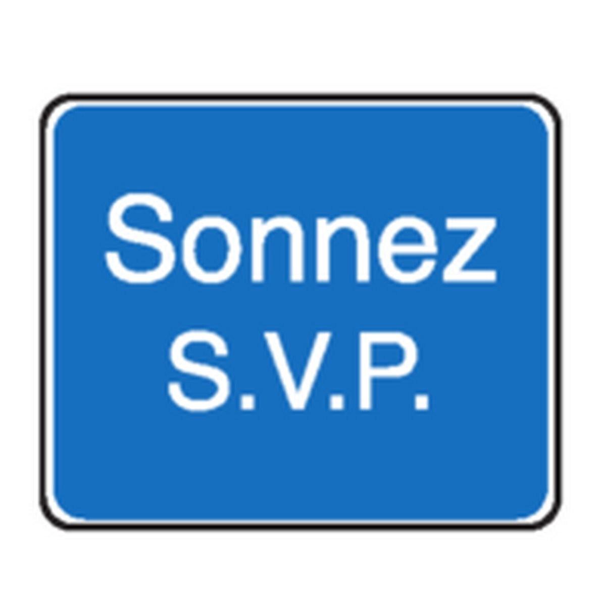 Panneau Sonnez SVP