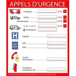 Panneau Appels d'Urgence