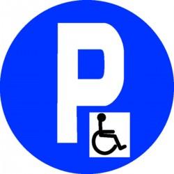 panneau parking handicap stocksignes. Black Bedroom Furniture Sets. Home Design Ideas