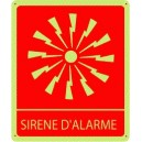 Pictogramme Sirène d'alarme Photoluminescent