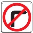 Défense de tourner à droite Picto Renforcé