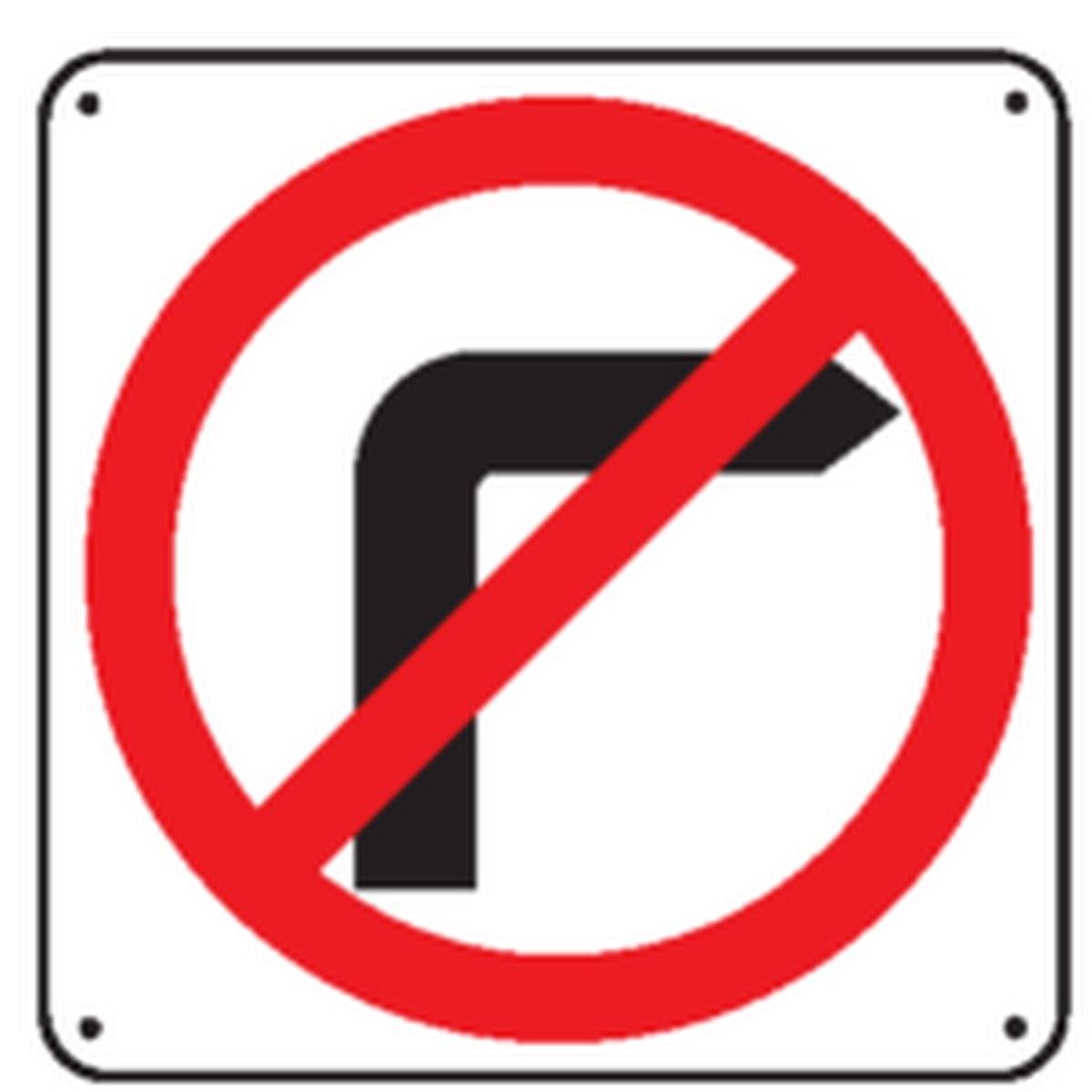Panneau Défense de tourner à droite Picto Renforcé pour poteau
