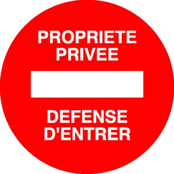 Panneau Defense D Entrer Stocksignes