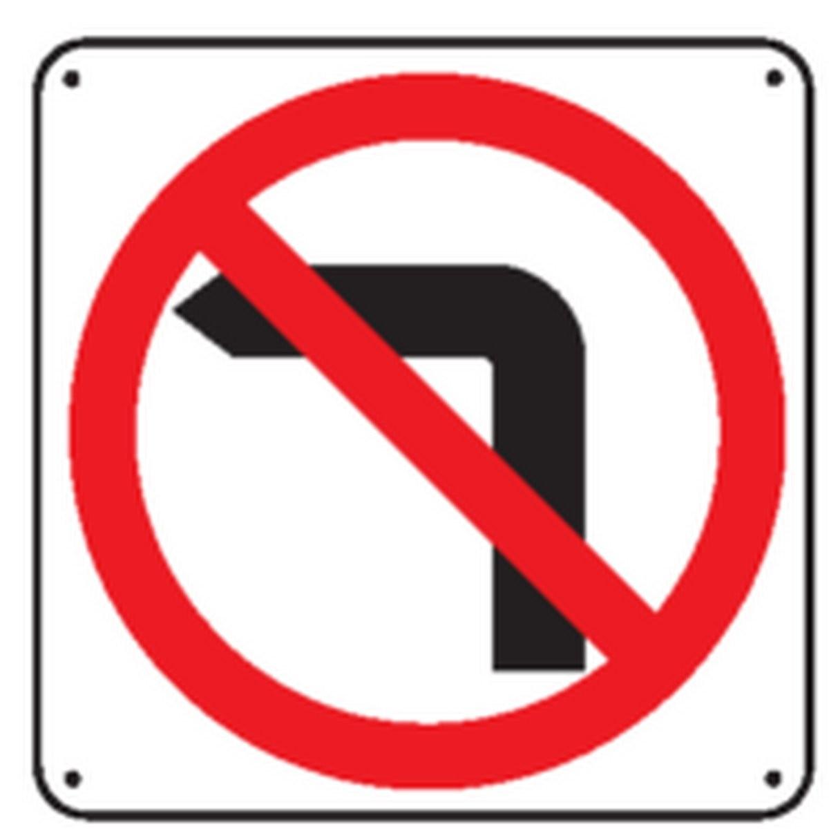 Panneau Défense de tourner à gauche
