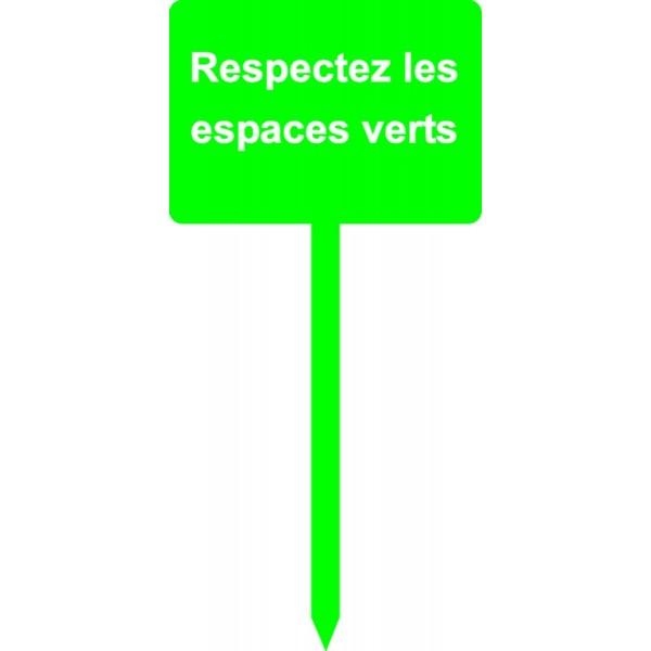 Panneau respectez les espaces verts stocksignes for Importance des espaces verts