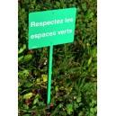 Panneau Respectez les espaces verts
