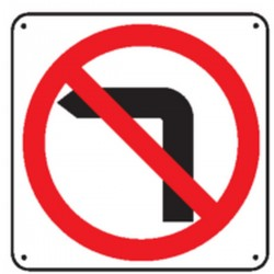 Panneau Défense de tourner à gauche Picto Renforcé pour poteau