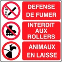 Défense/Interdit/Animaux