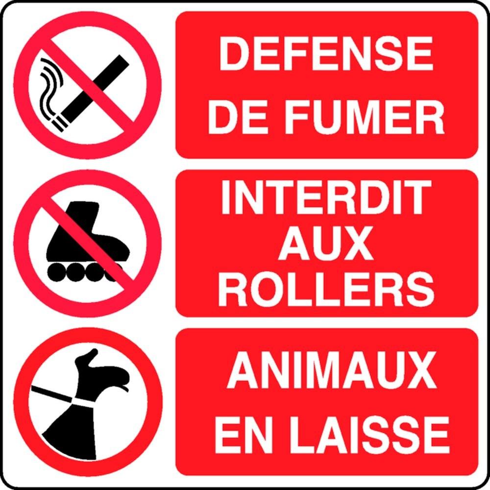 Panneau Défense / Interdit / Animaux
