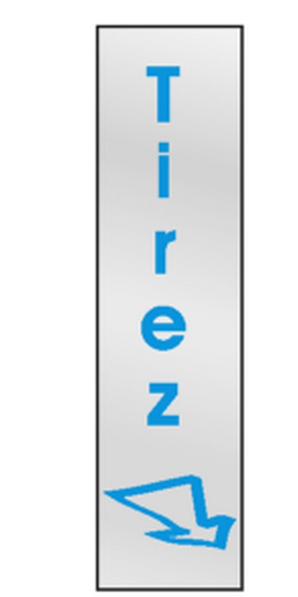 Plaque Tirez (vertical)