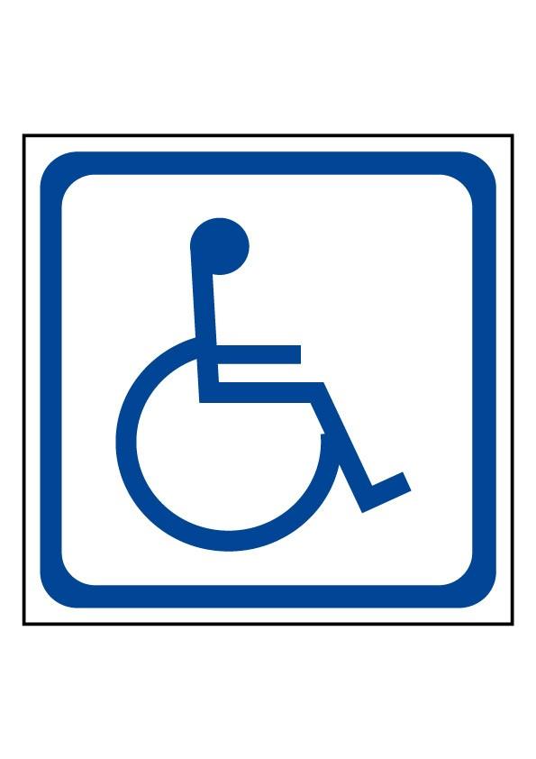 Panneau Transport d'handicapés Picto