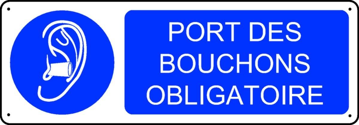 Panneau Port des bouchons obligatoire