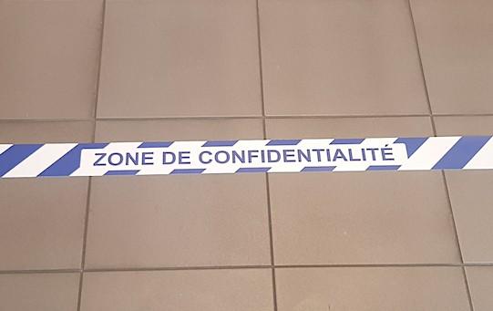 Ruban Zone de confidentialité