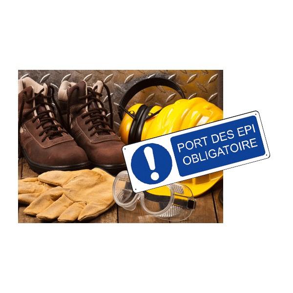 Panneau port des epi obligatoire stocksignes - Sensibilisation au port des epi ...