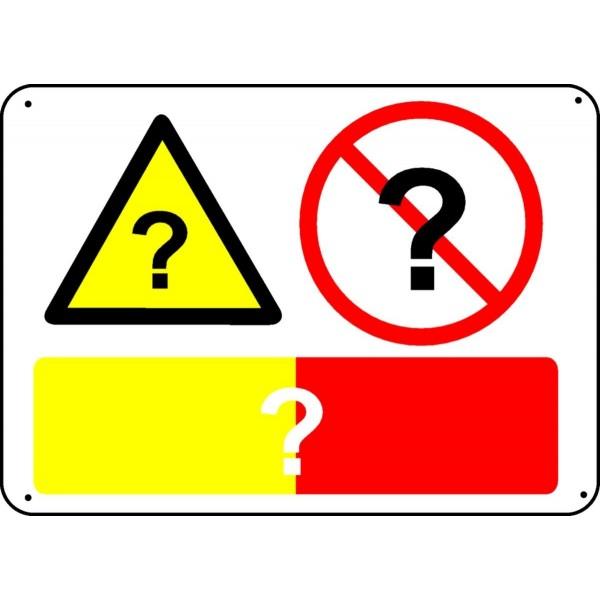 Panneau pr vention interdiction vierge stocksignes - Panneau de signalisation personnalise ...