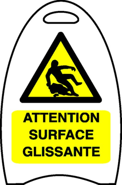 Pictogramme Attention Surface Glissante
