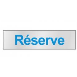 Plaque de porte Réserve
