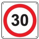Panneau 30 Km/h Renforcé pour poteau