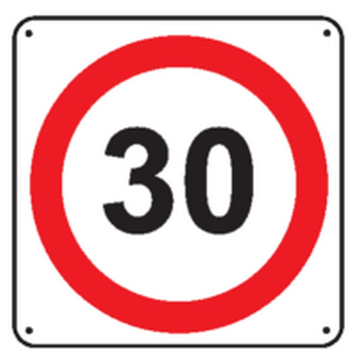 Un panneau routier 30km/h
