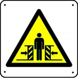 Panneau Ecrasement jambes Picto