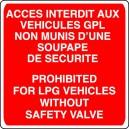 Panneau Accès Interdit aux véhicules GPL