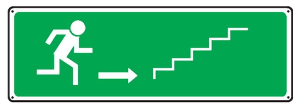 Pictogramme Escalier montée (droite)