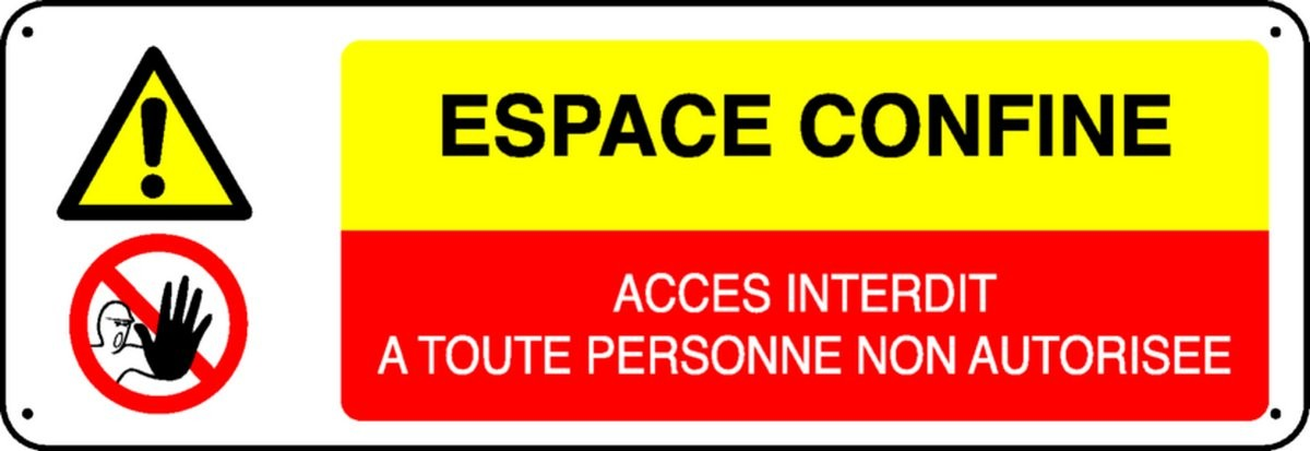 Panneau Espace Confiné Accès Interdit...