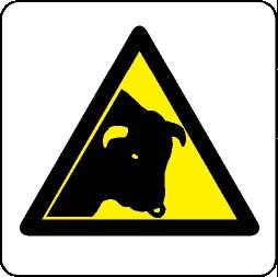 Panneau Danger animaux picto