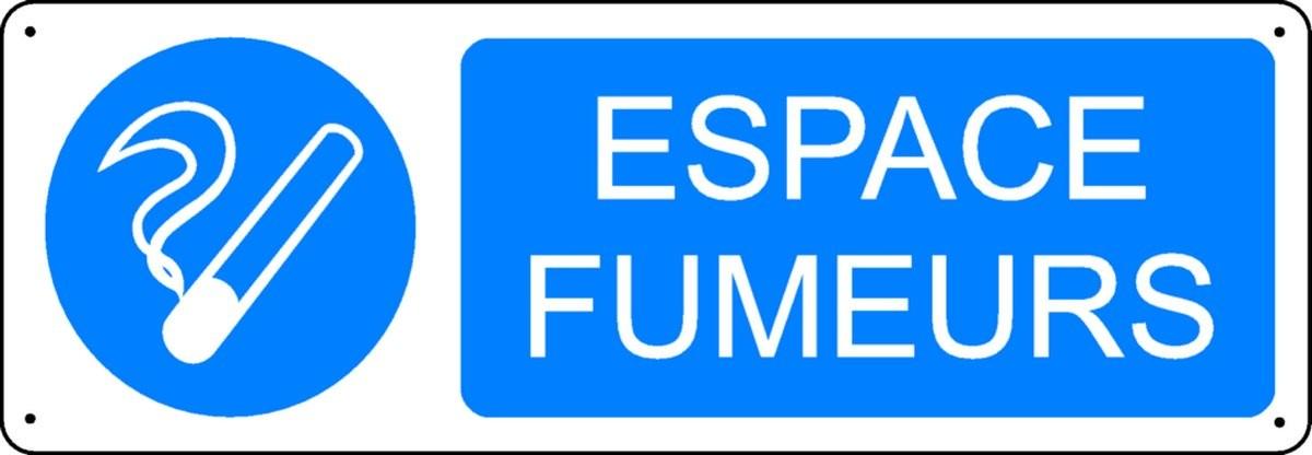 Panneau Espace Fumeurs