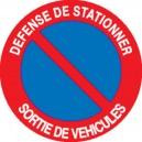 Défense de stationner Sortie de véhicules