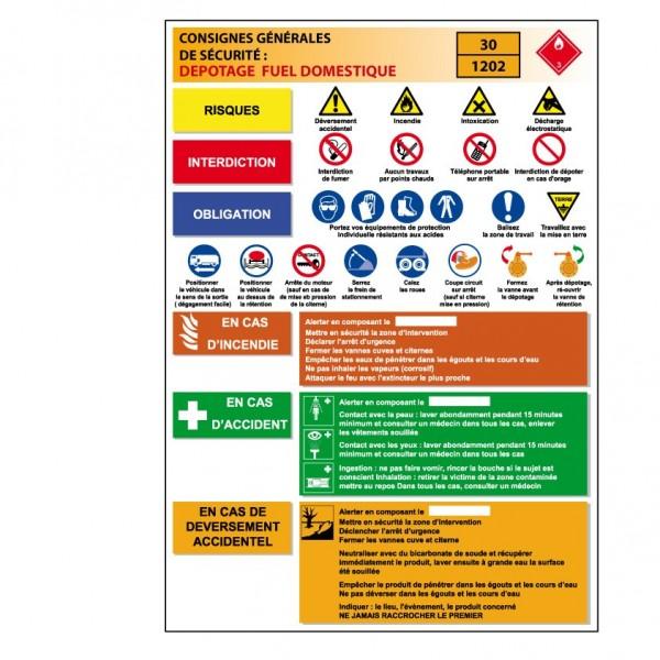Consigne D 233 Potage Fuel Domestique Stocksignes